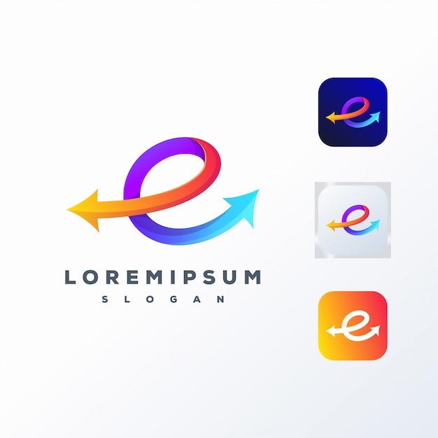 Colorful social media logo design ready to use Premium Vector