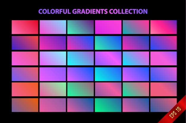 Colorful soft gradient background Premium Vector