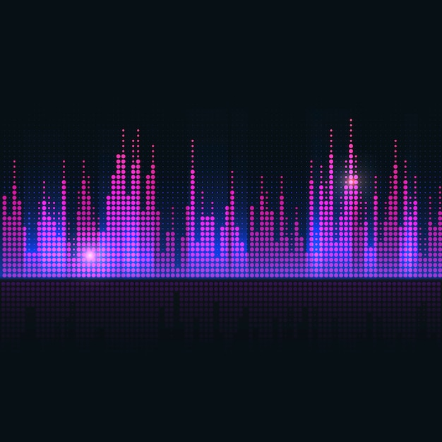 Colorful sound wave equalizer vector design Free Vector