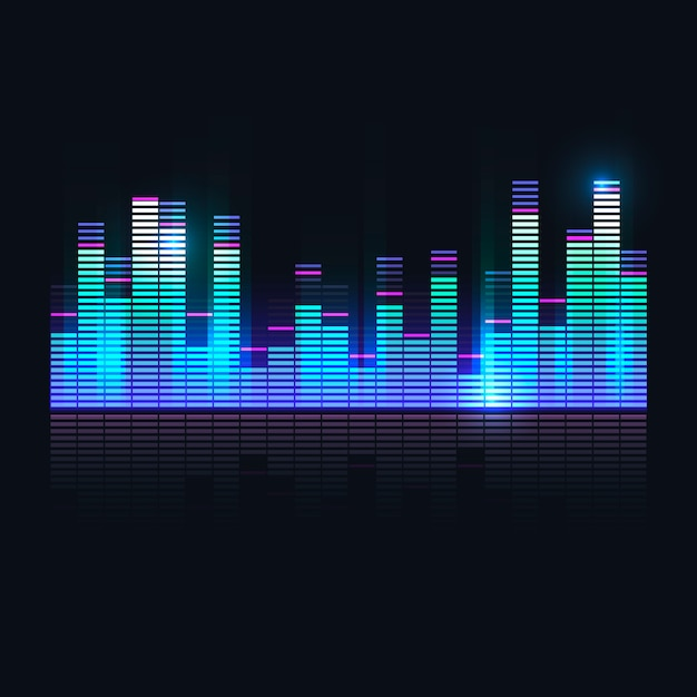 Colorful sound wave equalizer Vector | Free Download