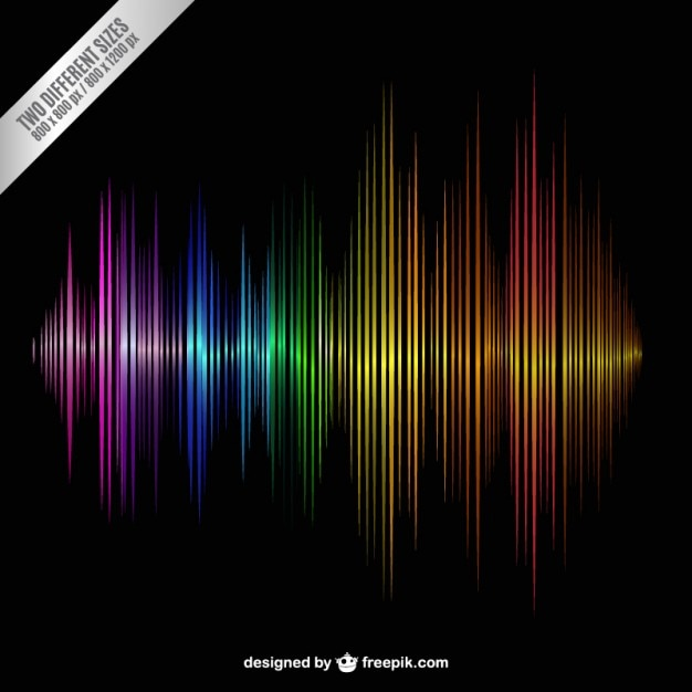 Colorful sound wave Free Vector