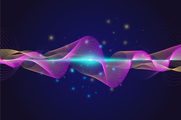 Красочные обои звуковая волна Бесплатные векторы