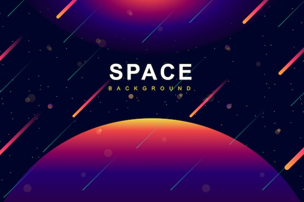 Colorful space and galaxy  background Premium Vector