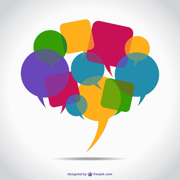 Colorful speech bubbles Free Vector