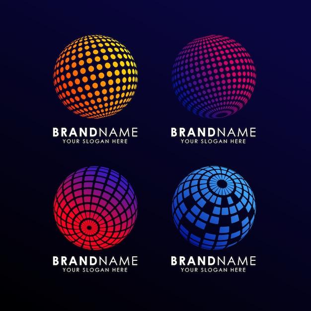 Colorful Sphere Logo Template Premium Vector