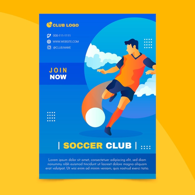Colorful sport flyer template Free Vector