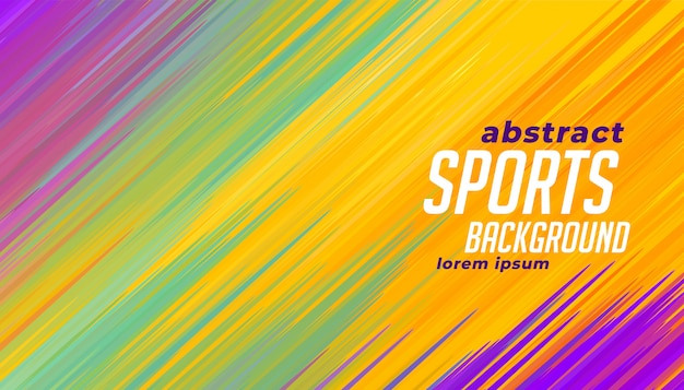 Colorful sports lines background Free Vector