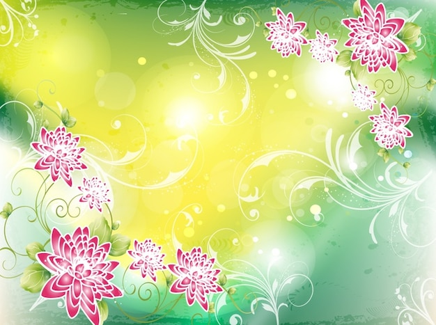 Colorful spring nature background Vector | Free Download