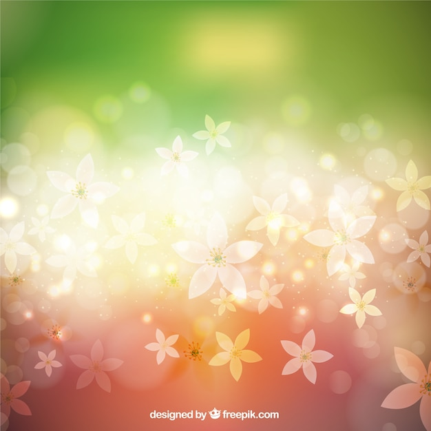Colorful springtime background Free Vector