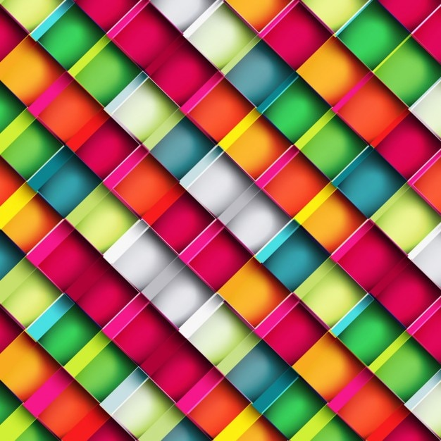 Colorful square blocks background