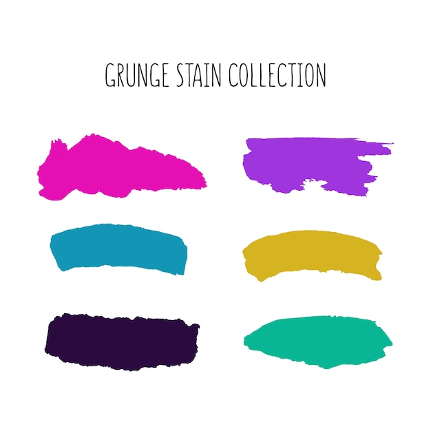 Colorful stain collection Free Vector