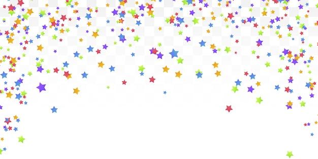 Colorful star confetti background. Premium Vector