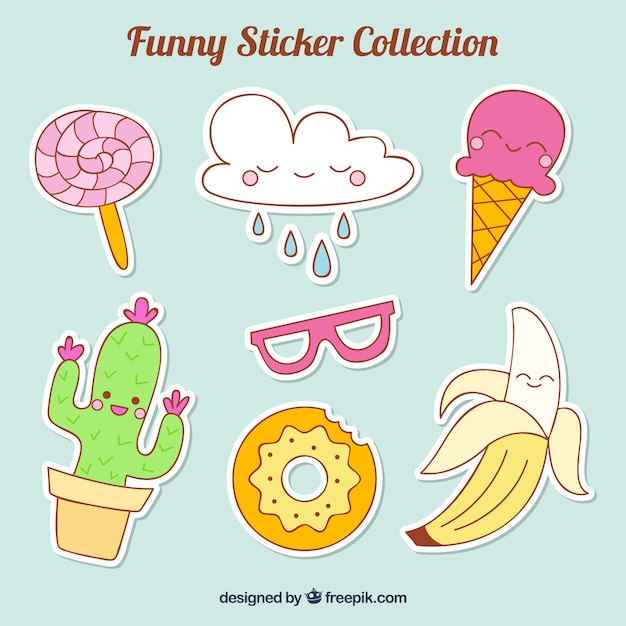 Colorful sticker collection