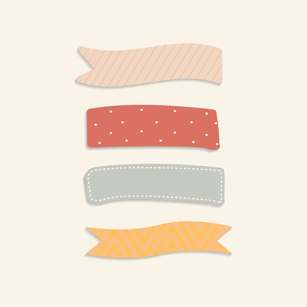 Colorful sticky notes Free Vector