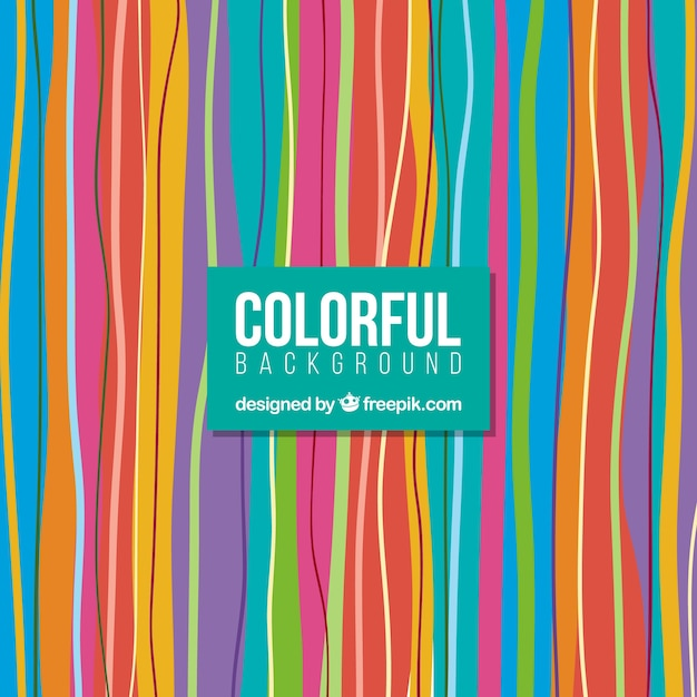 Colorful striped background Free Vector