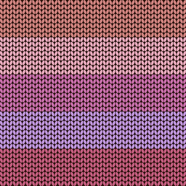 Colorful striped knitted background,  illustration Premium Vector