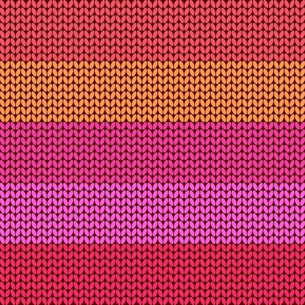 Красочный полосатый вязаный фон Premium векторы