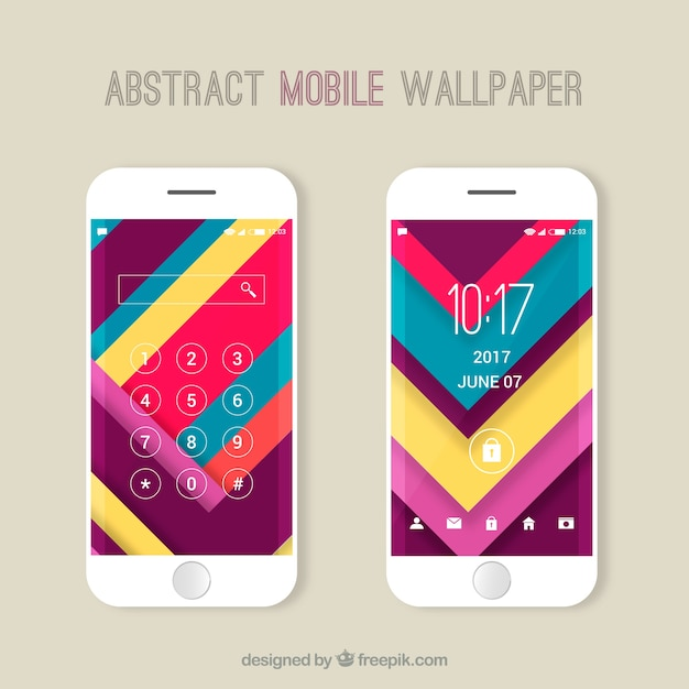 Colorful striped wallpapers pack