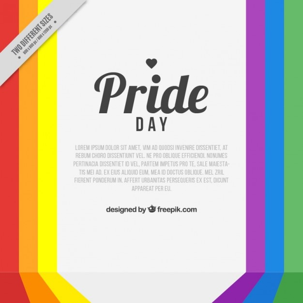 Colorful stripes pride day background Free Vector