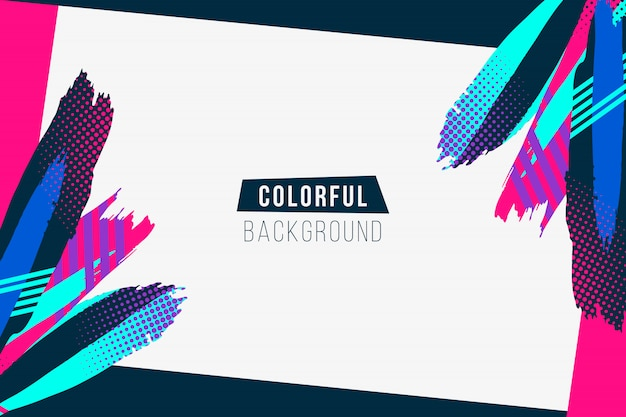 Colorful strokes background Free Vector