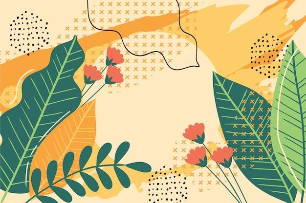 カラフルな夏の背景デザイン 無料ベクター