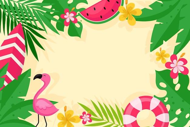 Красочный летний стиль фона Бесплатные векторы