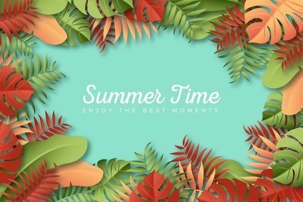 カラフルな夏の背景のテーマ 無料ベクター