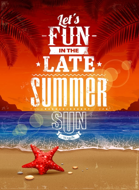 colorful summer background Free Vector