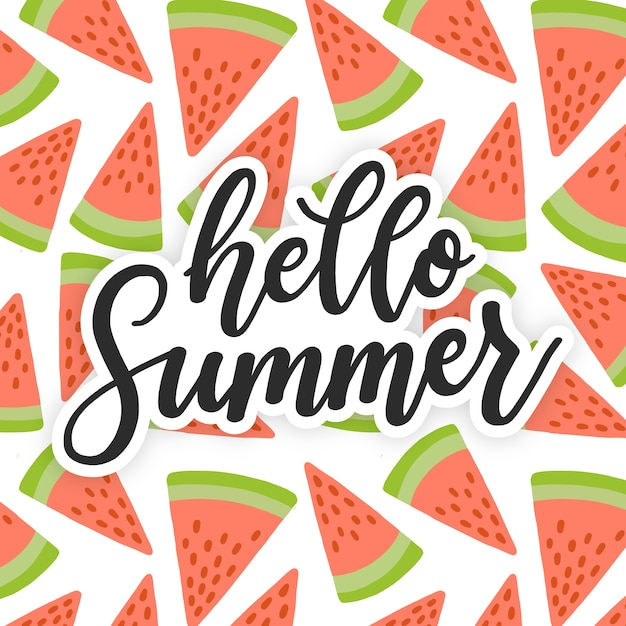 Colorful summer lettering quote Free Vector