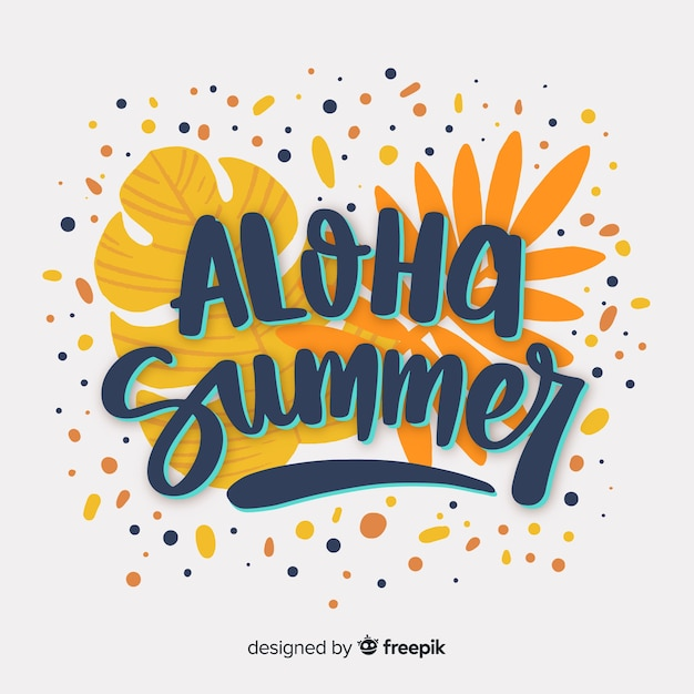 Colorful summer lettering Free Vector