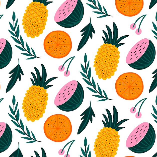 Colorful summer pattern Free Vector