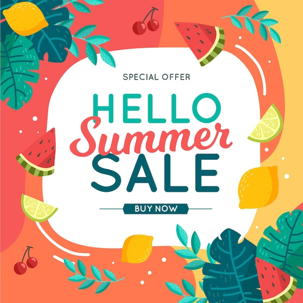 Красочная летняя распродажа концепции Premium векторы