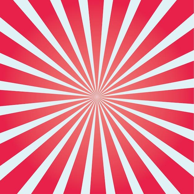 Colorful sunburst. colored sun rays cartoon illustration Premium Vector