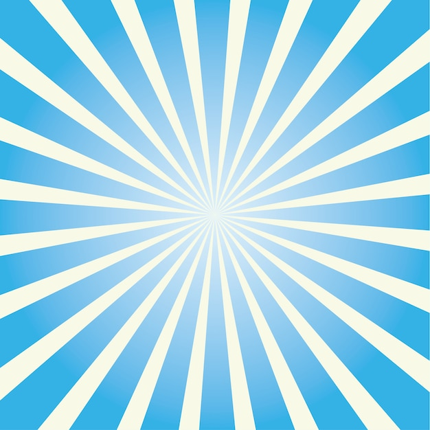 Colorful sunburst. colored sun rays cartoon illustration Premium Vector