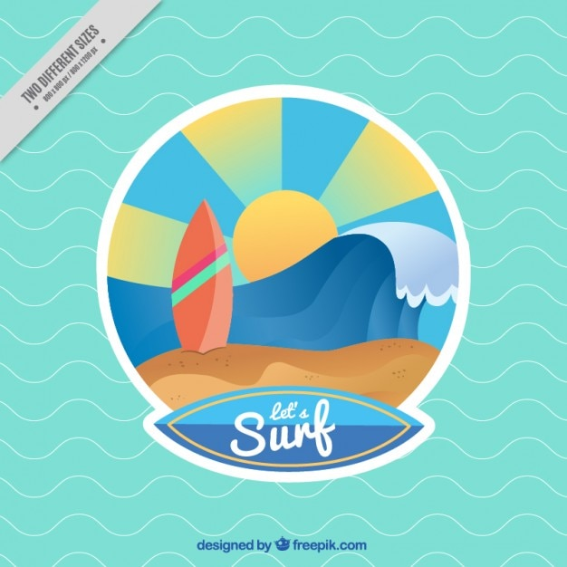 Colorful surf background