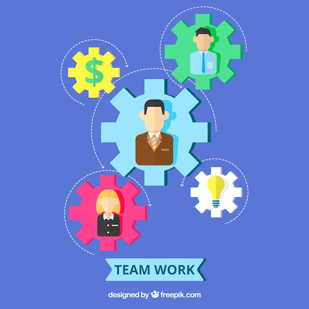 Colorful teamwork concept
