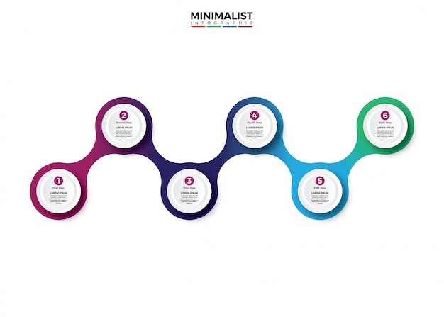 Colorful template business concept timeline Premium Vector