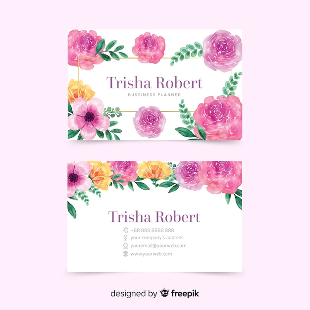Colorful template concept for business card Free Vector
