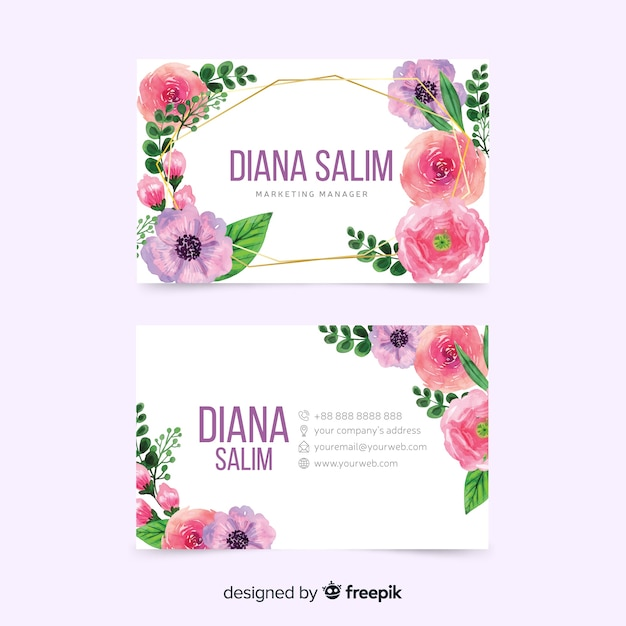 Colorful template design for business card Free Vector