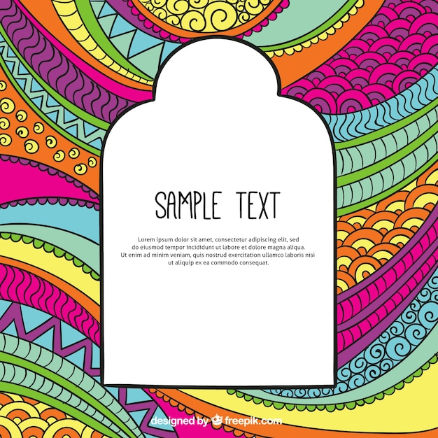 colorful template in abstract style vector free download