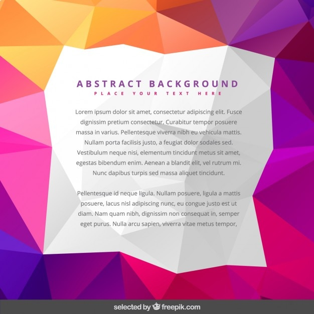 colorful template in low poly style vector free download