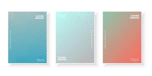 Modello colorato con gradiente impostato per la presentazione Vettore gratuito