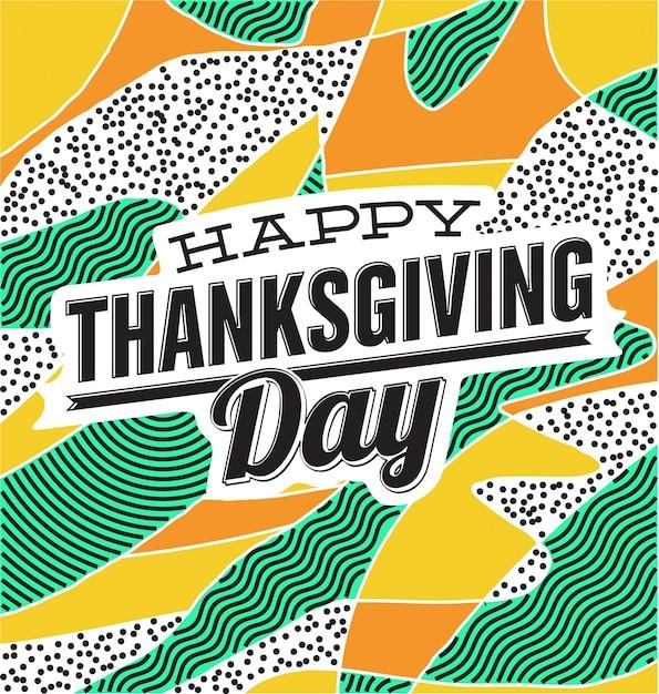 Colorful thanksgiving day design Premium Vector