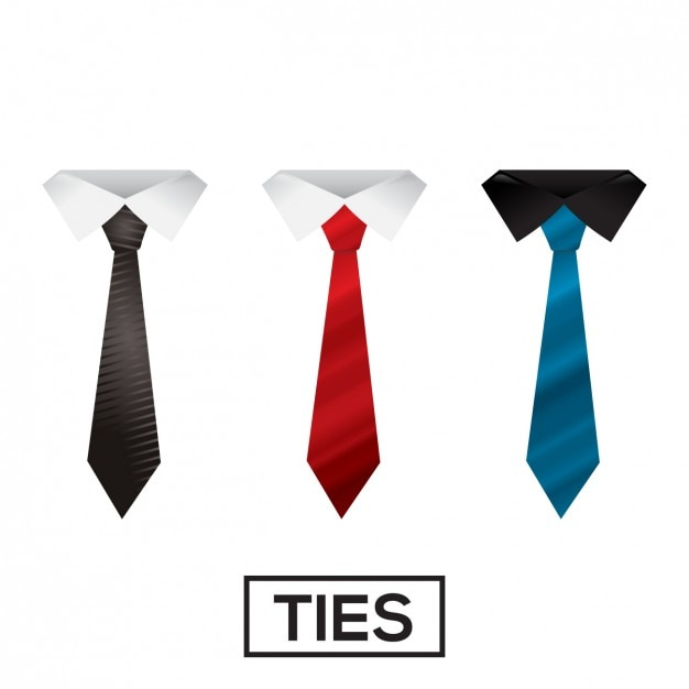Colorful ties collection Free Vector