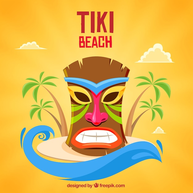 Colorful tiki mask on the island vector free download colorful tiki mask on the island free vector stopboris Images