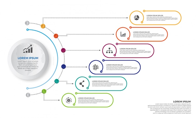 Colorful timeline infographics design vector and marketing icons Premium Vector