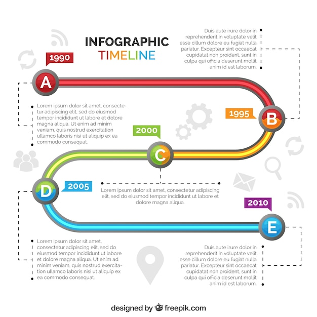 Colorful timeline with professional style
