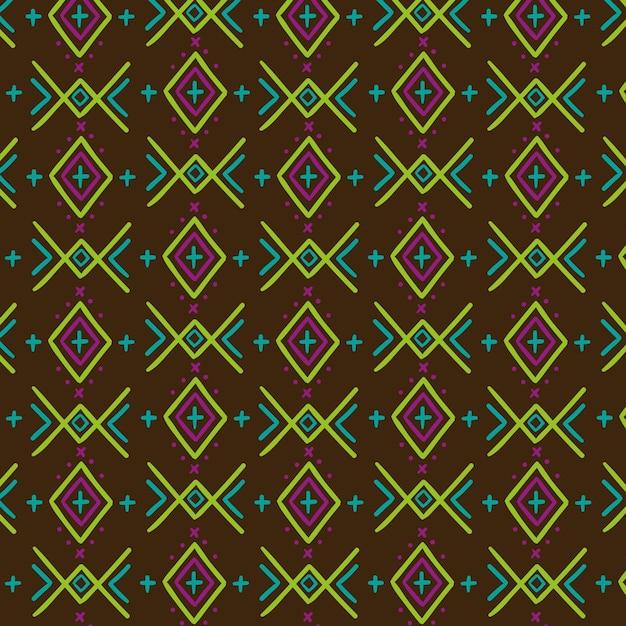 カラフルな伝統的なソンケットパターン 無料ベクター