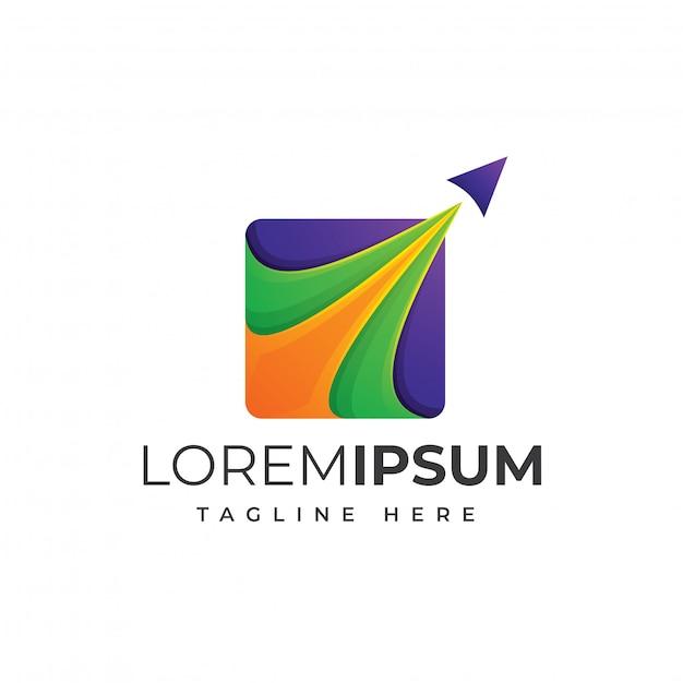カラフルな旅行ロゴデザインプレミアム Premiumベクター