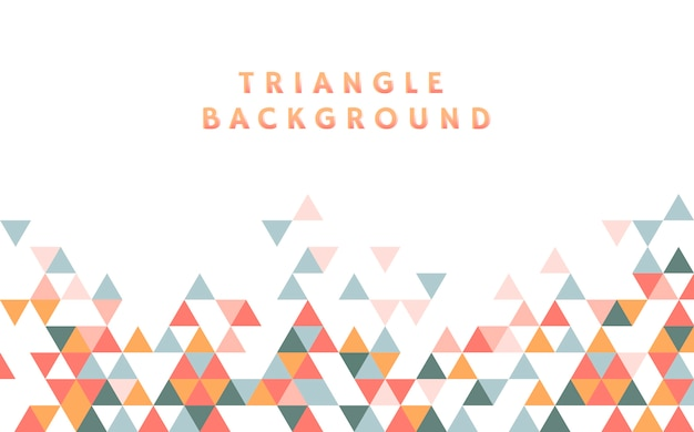 Colorful triangle pattern illustration Free Vector